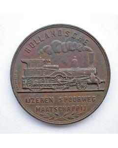Penning, 50 jaar Hollandsche IJzeren Spoorwegmaatschappij, 1889
