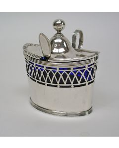 Empire zilveren mosterdpot, Hendrik Smits, Amsterdam 1805