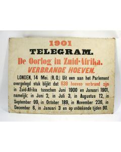 Nieuwsbulletin, Boerenoorlog, 1901
