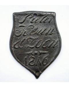 Trotseerloodje, Pieter Keun & Zoon, Haarlem 1846