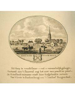 Kopergravure, Het dorp Voorhout, 1792