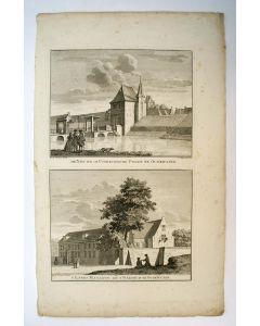 Oudewater, twee gravures op een blad, 1747