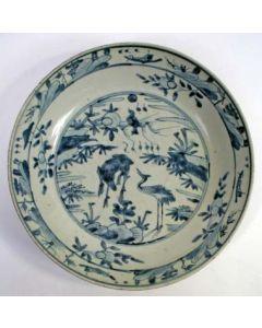 Chinese porseleinen schotel, Ming periode, ca. 1600