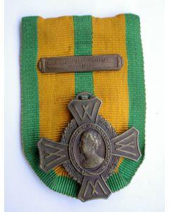 Oorlogsherinneringskruis, met gesp 'Oorlogsdienst Visserij 1940-1945'