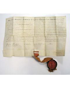 Doctorsbul van Carel Jan Bisdom, Leiden 1750