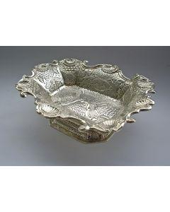 Zilveren kandijbakje, Paulus Vermeulen, Haarlem, 1767