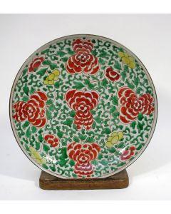 Chinees porseleinen bord, Famille Verte, 18e eeuw