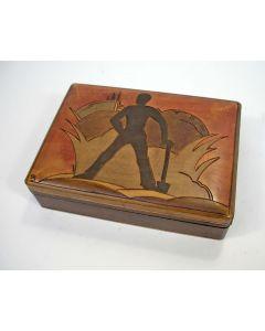Gebatikt houten doos