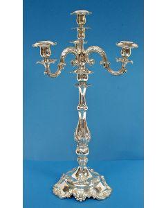 Vierarms zilveren kandelaber, 1856