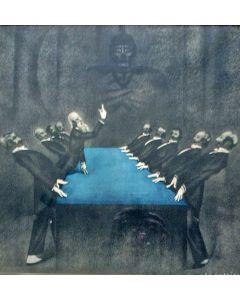 Jan Lavies, 'De groene tafel', reclameontwerp, 1933