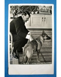 Prentbriefkaart met afbeelding van Hitler, verzonden naar Nederland in 1934