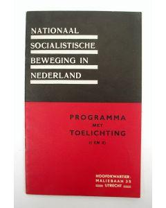 Nationaal Socialistische Beweging in Nederland. Programma met toelichting.1931 [NSB]