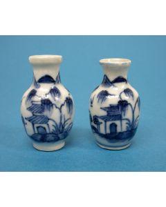 Stel Chinees porseleinen miniatuur vaasjes, 18e eeuw