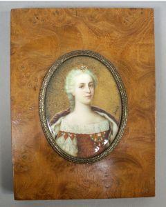 Portretminiatuur, Keizerin Maria Theresia