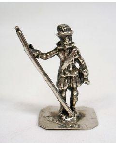 Zilveren miniatuur lansier, 18e eeuw