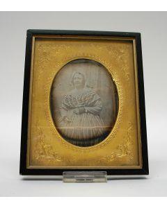 Daguerreotype, damesportret, ca. 1850