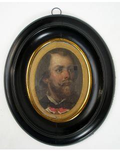 Portretminiatuur, Koning Willem III, ca. 1850