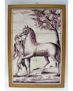 Tegeltableau, paard, 19e eeuw