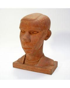 Han Wezelaar, Zeeuwse boerenjongen, terracotta sculptuur, 1929