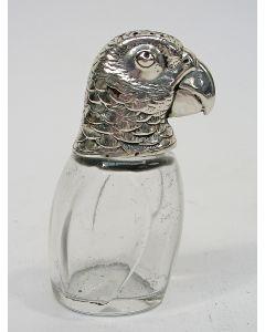 Zilveren strooibus in de vorm van een papegaai