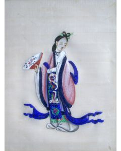 Chinese schildering op pithpapier, 19e eeuw