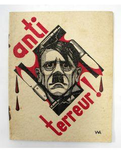 Anti-terreur!. Antinazistische brochure met tekeningen door Wilhelm Augustin (A.W. van Gils), 1934