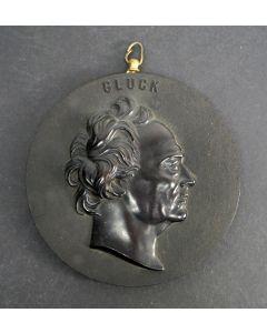 'Bois Durci' plaquette, de componist Gluck, 19e eeuw