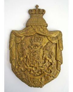 Metalen wapenschild, Koninkrijk der Nederlanden, 19e eeuw
