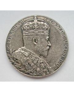 Zilveren kroningsmedaille van Koning Edward VII van Engeland, 1902