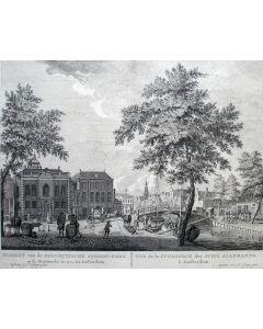 De Hoogduitse Synagoge te Amsterdam, gravure door Fouquet, ca. 1760