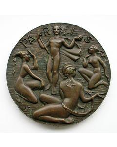 Gietpenning, 'Paris', 1952 [Maarten Pauw]