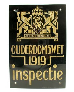 Muurschild, Inspectie Ouderdomswet 1919