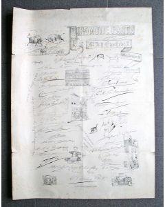 Prent op de promotiepartij van Joh. Enschedé, Leiden 1875