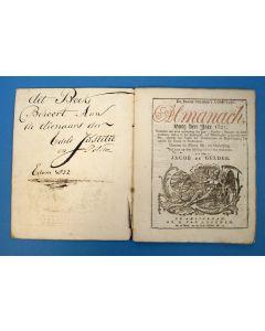 d'Erven Stichters Comptoir Almanach van 1821, in gebruik geweest bij de gemeente Edam.