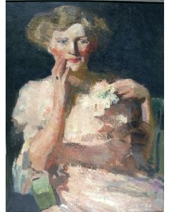Kees Maks, portret van Ank van der Moer