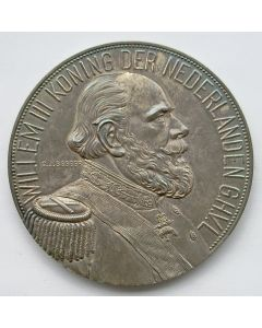 Penning, overlijden van Koning Willem III 1890, in cassette