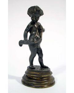 Bronzen beeldje, Bacchus met hoorn, Clodion