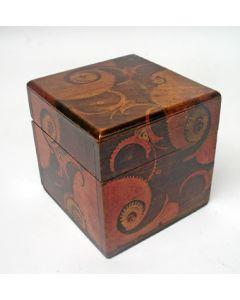 Gebatikt houten theekistje, Louis Bogtman