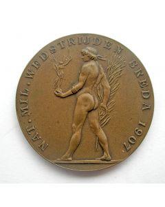 Prijspenning van de Nationale Militaire Wedstrijden te Breda, 1907