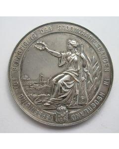 Erepenning van de Vereeniging tot Behartiging der Stoomvaartbelangen in Nederland, 1909, op naam van A. van Ankeren