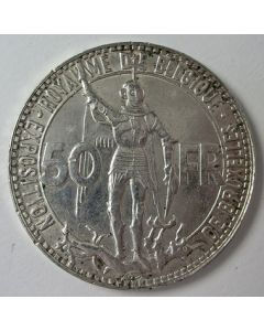 België, 50 francs 1935, Wereldtentoonstelling