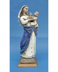 Charles Vos, Madonna met kind, sculptuur, ca. 1930/50.