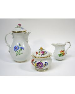 Driedelig porseleinen koffieservies, Meissen