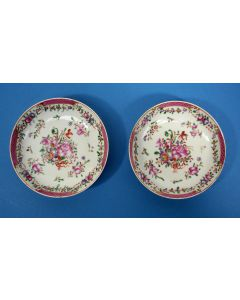 Stel Famille Rose schotels, Qian Long periode