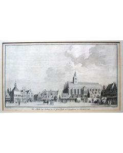 Gezicht op de Markt van Amersfoort, ets, 1742