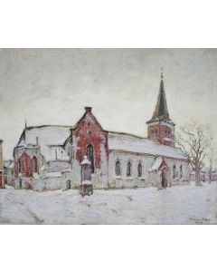 Jan van Ham, Geertekerk in de sneeuw, 1943