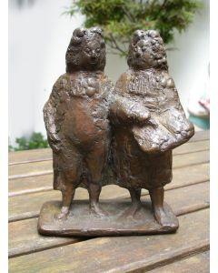 Bronzen beeldje, twee geleerden