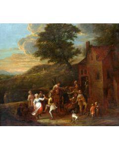 Omgeving David Teniers, Dansende boeren bij een herberg, 17e eeuw