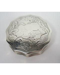 Zilveren pepermuntdoosje, C. Monteban, Schoonhoven, 1854