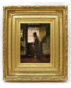Jozef Israëls, 'De oude visser', olieverfschilderij